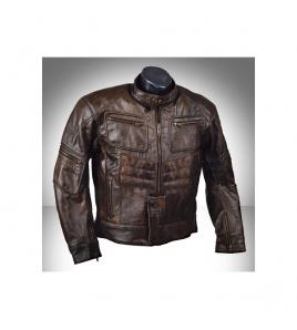 Ultimate Streetfighter kožená moto bunda retro hnedá
