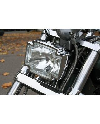 Hlavní moto světlo Highway Hawk GOTHIC chrom, homologované