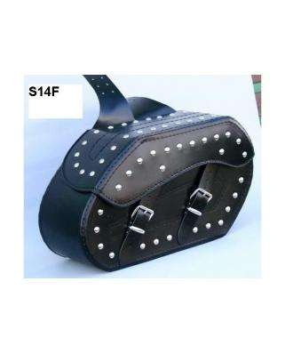 Kožené moto brašny S14, 2x22L