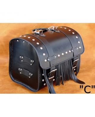 Kožený moto kufr K2, 26L