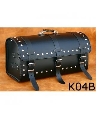 Kožený moto kufr K4, 60 x 28 x 25cm, 42L