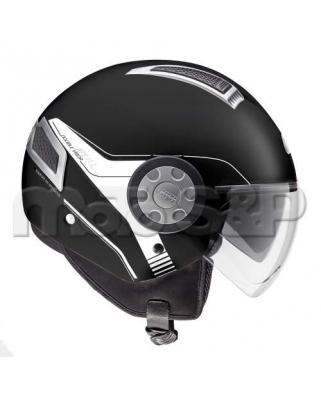 GIVI 11.1 AIR JET N900 otevřená moto helma, černá matná, Jet, 2 plexi (sluneční clona)