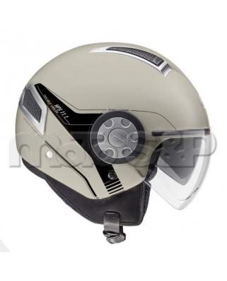 GIVI 11.1 AIR JET M817 otevřená moto helma, mocca, Jet, 2 plexi (sluneční clona)