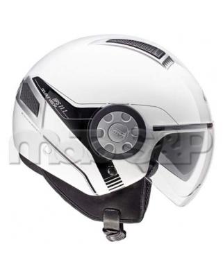GIVI 11.1 AIR JET B910 otevřená moto helma, bílá, Jet, 2 plexi (sluneční clona)