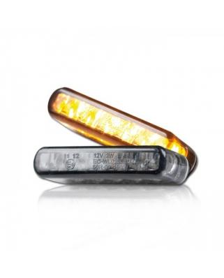 LED moto blinkry Streak, tónované sklo, homologované