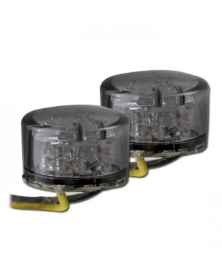 LED moto blinkry Twenty, černé, tónované sklo, homologované