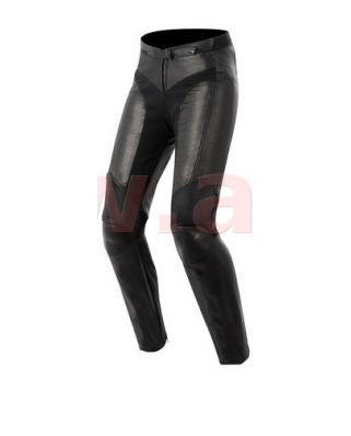 Kožené kalhoty VIKA, Alpinestars - Itálie, dámské (černé)