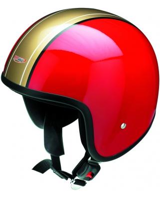 REDBIKE Moto helma RB-656 - červeno/zlatá