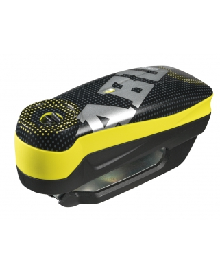 Abus Detecto 7000 RS1 Pixel yellow - zámek na kotoučovou brzdu s alarmem