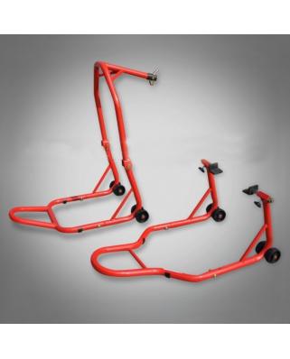 SET stojanů - přední do krku řízení + zadní pod kyvku