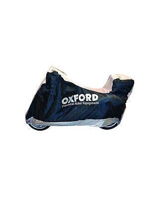Plachta na motorku Aquatex s prostorem na kufr, OXFORD - Anglie (černá/stříbrná) vel. M