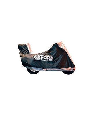 Plachta na motorku Aquatex s prostorem na kufr, OXFORD - Anglie (černá/stříbrná) vel. L