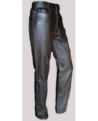 Kožené jeansy hladké, matné