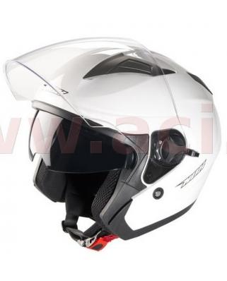 Nox N124 otevřená moto helma, bílá