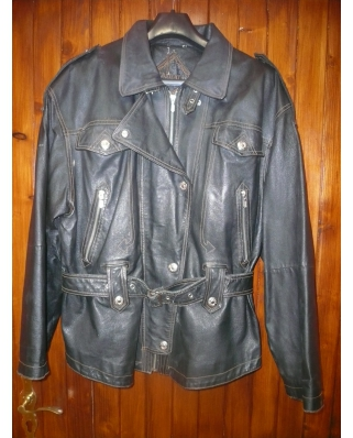 89bf24669 Kožená bunda čierna, veľ. XL