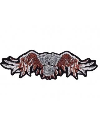 Nášivka zádovka - Motor křídla, 34,5 x 10,5cm