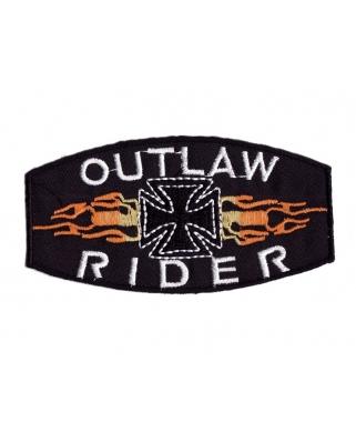 Nášivka - Outlaw Rider, 9,8 x 5cm