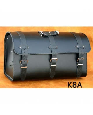 Kožený kufr na moto K8, 60/50 x 33 x 28cm