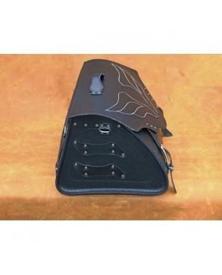 Kožený moto kufr K20, 52x25x33cm