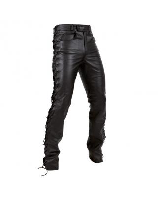 Kožené kalhoty se šněrováním