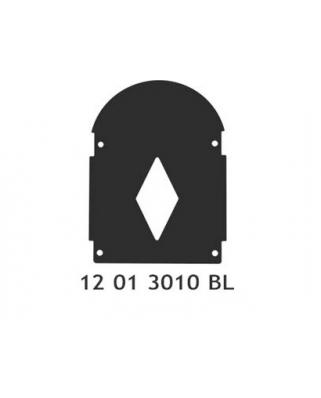 Černý kryt pro opěrky Basic, Basic Plus a De Luxe