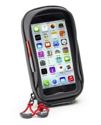 Givi S 956B textilní taštička  na uchycení iPhone 6, Samsung A5,s objímkou na připevnění k řídítkům