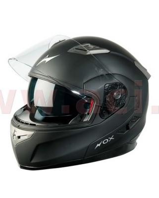 Nox N959 vyklápěcí helma, černá-matná se sluneční clonou