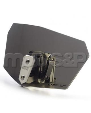 Přídavné plexi kouřové univerzální GIVI S180F s hliníkovým úchytem