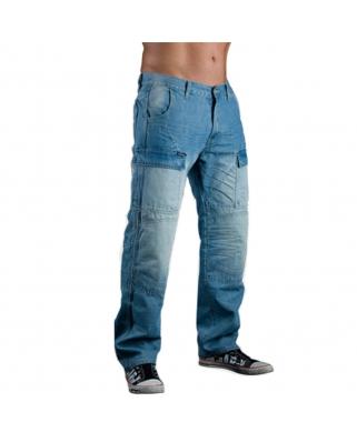Kevlarové modré jeansy s CE chrániči