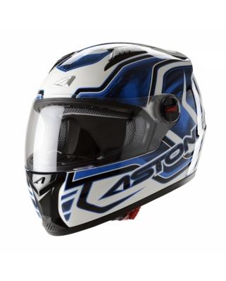 ASTONE GT BURNING moto přilba modrá
