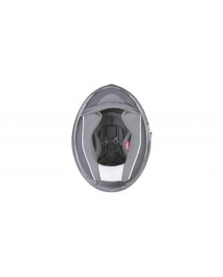 CASSIDA Cyklon (stříbrná titanium matná) integrální moto helma