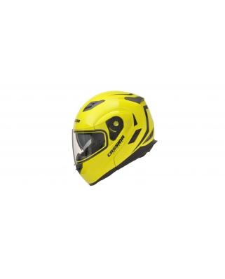 CASSIDA Compress výklopná helma s dofukovaním lícnic (žlutá fluo)
