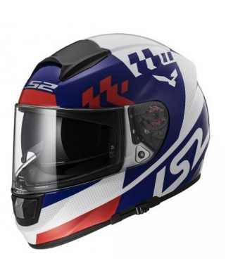 LS2 FF397 VECTOR FT2 PODIUM WHITE RED BLUE