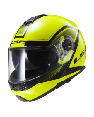 LS2 FF325 STROBE CIVIK HI-VIS yellow black