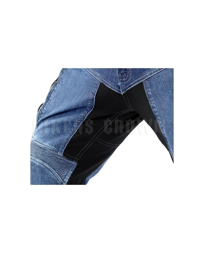 1cc9c6ebed17 ... Trilobite 661 Parado TÜV CE Kevlarové jeansy dámské modré ...