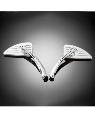 Zpětné zrcátko motocyklu HIGHWAY HAWK Tech Glide Teardrop, pravé, rovná nožička