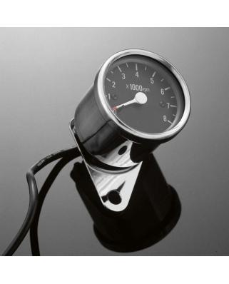 Otáčkoměr elektronický Highway Hawk s držákem pro čtyřtakt, 8000 ot., 60mm, chrom/černý
