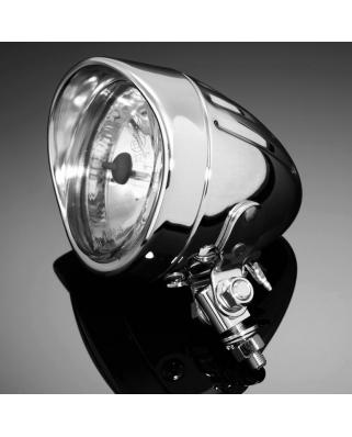 Přídavné moto světlo Highway Hawk TECH GLIDE, chrom (1ks), homologované