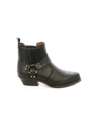 Kožené boty chopper koně nízké KG1