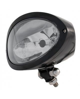 Hlavní moto světlo IOWA černé, homologované