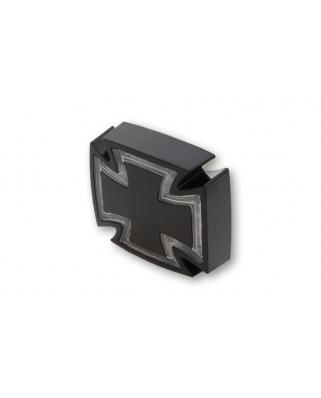 LED zadní moto světlo GOTHIC černé, čiré sklíčko, homologované