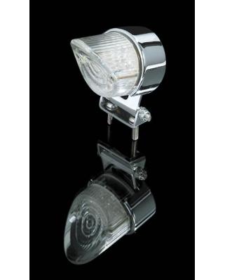 LED zadní moto světlo SHARK NOSE, homologované