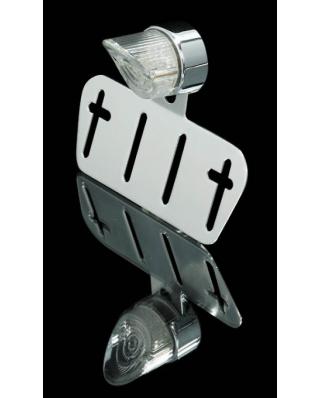 LED Mini Universal NOSE moto světlo s držákem SPZ