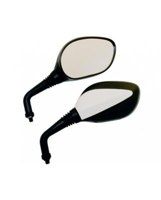 Moto zrcátka BASIC černo-bílá 10mm (E-známka)