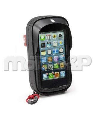 Givi S 955B textilní taštička na uchycení iPhone 5, s objímkou na připevnění k řídítkům